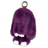 """Меховой брелок """"Зайчик"""" (кролик) 22 см на сумку -09"""