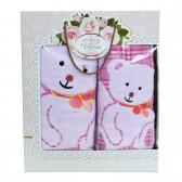 """Набор полотенец подарочный """"Мишки"""" (pink)"""