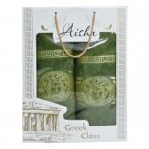 """Набор полотенец подарочный """"Versace"""" (green)"""