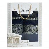 """Набор полотенец подарочный """"Versace"""" (blue)"""