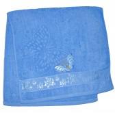 """Полотенце махровое, банное """"Бабочка"""" (blue)"""