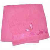 """Полотенце махровое, банное """"Бабочка"""" (pink)"""