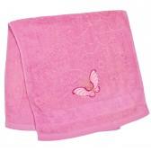 """Полотенце махровое, лицевое """"Бабочка"""" (pink)"""