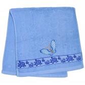 """Полотенце махровое, лицевое """"Бабочка"""" (blue)"""