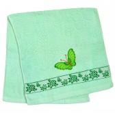 """Полотенце махровое, лицевое """"Бабочка"""" (green)"""