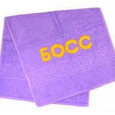 """Полотенце махровое с надписью """"БОСС"""""""
