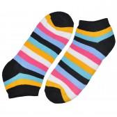 """Носки женские, короткие, """"Цветные полосы"""" -06"""
