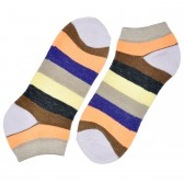 """Носки женские, короткие, """"Цветные полосы"""" -10"""