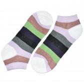 """Носки женские, короткие, """"Цветные полосы"""" -25"""