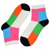"""Носки женские, короткие, """"Цветные ромбы"""" -01"""