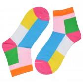 """Носки женские, короткие, """"Цветные ромбы"""" -03"""