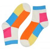 """Носки женские, короткие, """"Цветные ромбы"""" -04"""