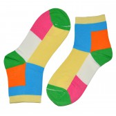 """Носки женские, короткие, """"Цветные ромбы"""" -05"""