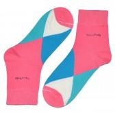 """Носки женские, короткие, """"Цветные ромбы"""" -06"""