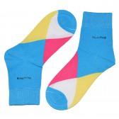 """Носки женские, короткие, """"Цветные ромбы"""" -08"""