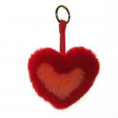 Меховое сердце, брелок (натуральный мех) - 07