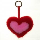 Меховое сердце, брелок (натуральный мех) - 10
