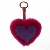 Меховое сердце, брелок (натуральный мех) - 11