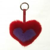 Меховое сердце, брелок (натуральный мех) - 13