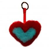 Меховое сердце, брелок (натуральный мех) - 20
