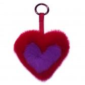 Меховое сердце, брелок (натуральный мех) - 22