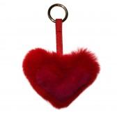 Меховое сердце, брелок (натуральный мех) - 25
