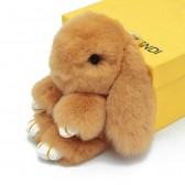 """Меховой брелок """"Зайчик"""" (кролик) 18 см на сумку -25"""