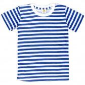 Футболка-тельняшка детская (синяя полоса)