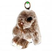 """Меховой брелок """"Зайчик"""" (кролик) 18 см на сумку -61"""
