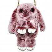 """Меховая сумка рюкзак """"Кролик"""" (бордовый шиншилла)"""