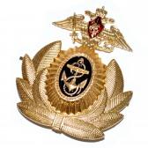 Кокарда ВМФ РФ Офицерская с гербом РФ