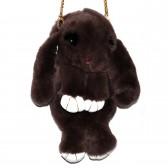 """Меховая сумка рюкзак """"Кролик"""" (коричневый)"""