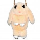 """Меховая сумка рюкзак """"Кролик"""" (светло-желтый)"""