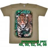 """Футболка """"Леопард в траве"""" (размерный ряд)"""