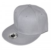 Светло-серая кепка с прямым козырьком