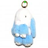"""Меховой брелок """"Зайчик"""" (кролик) 18 см на сумку -71"""