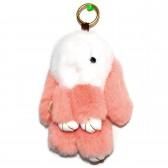 """Меховой брелок """"Зайчик"""" (кролик) 18 см на сумку -74"""