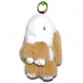 """Меховой брелок """"Зайчик"""" (кролик) 18 см на сумку -75"""