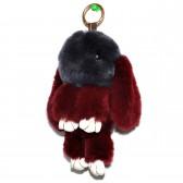 """Меховой брелок """"Зайчик"""" (кролик) 18 см на сумку -77"""
