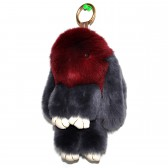 """Меховой брелок """"Зайчик"""" (кролик) 18 см на сумку -78"""