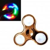 Спиннер для рук (светящийся, 3 режима), цветной хром