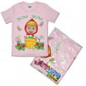 """Футболка детская """"Маша"""" для девочки, светло-розовый (уп. 4 шт.: 5-8 лет.)"""