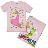 """Футболка детская """"Принцесса"""" для девочки, светло-розовый (уп. 4 шт.: 5-8 лет.)"""
