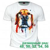 """Футболка """"Собака в красках"""" (размерный ряд)"""