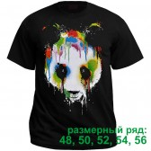 "Футболка ""Панда в красках"" (размерный ряд)"
