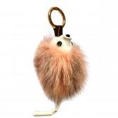 """Меховой брелок """"Ежик с хвостиком"""" (натуральный мех - норка) на сумку -04"""