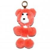 """Меховой брелок """"Медвежонок"""" на сумку -02"""