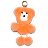 """Меховой брелок """"Медвежонок"""" на сумку -03"""