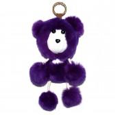 """Меховой брелок """"Медвежонок"""" на сумку -04"""