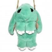 """Меховая сумка рюкзак """"Кролик"""" (зеленый)"""
